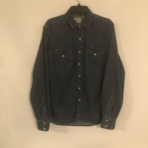 Lucky Brand Western Denim Men's Shirt Size S